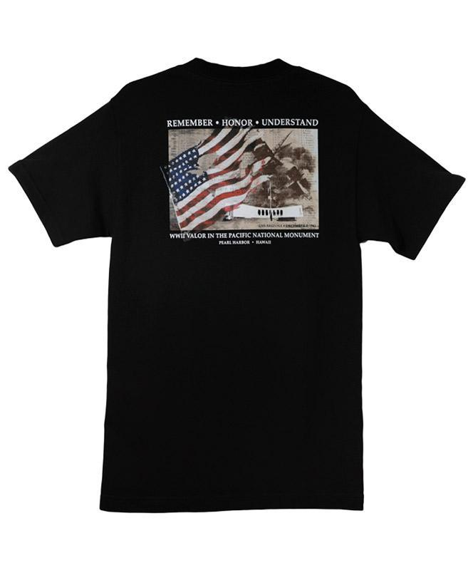 Men's USS Arizona Memorial Wall of Honor T-shirt, Black
