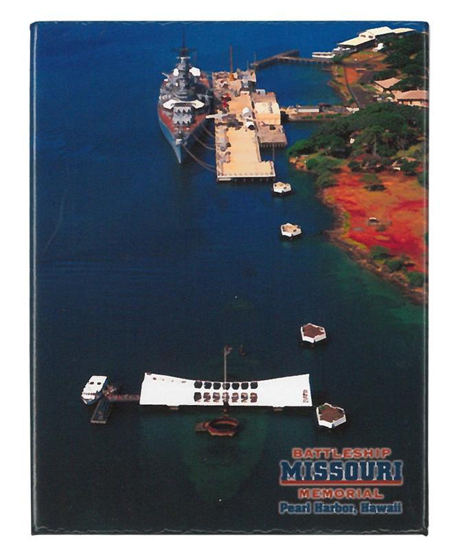 Battleship Missouri and USS Arizona Memorial, Pearl Harbor - Magnet