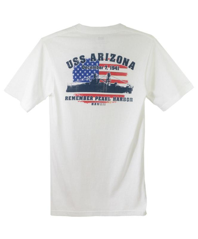Men's USS Arizona Flag T-shirt, White