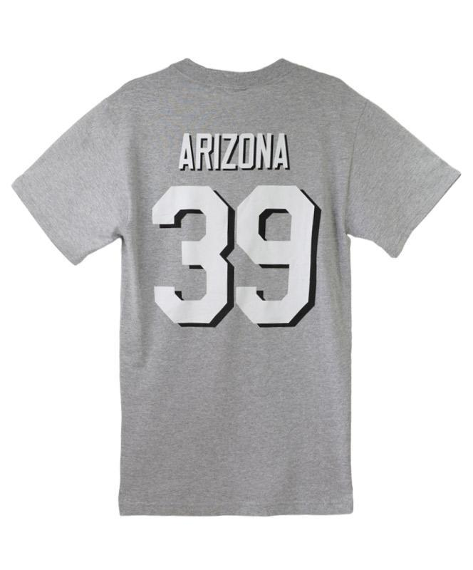 Men's USS Arizona BB39 Jersey T-shirt, Gray