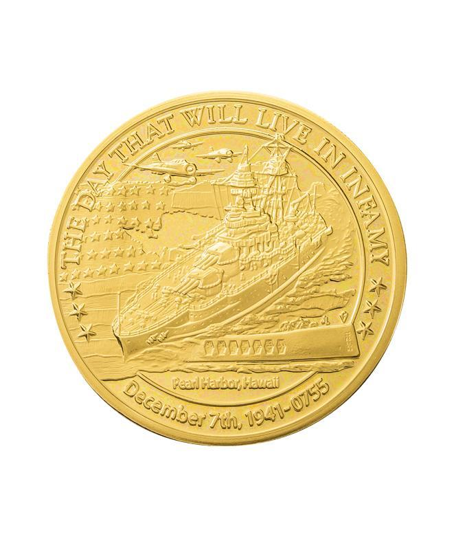 December 7th and September 11th Commmemorative Coin, Merlin Gold