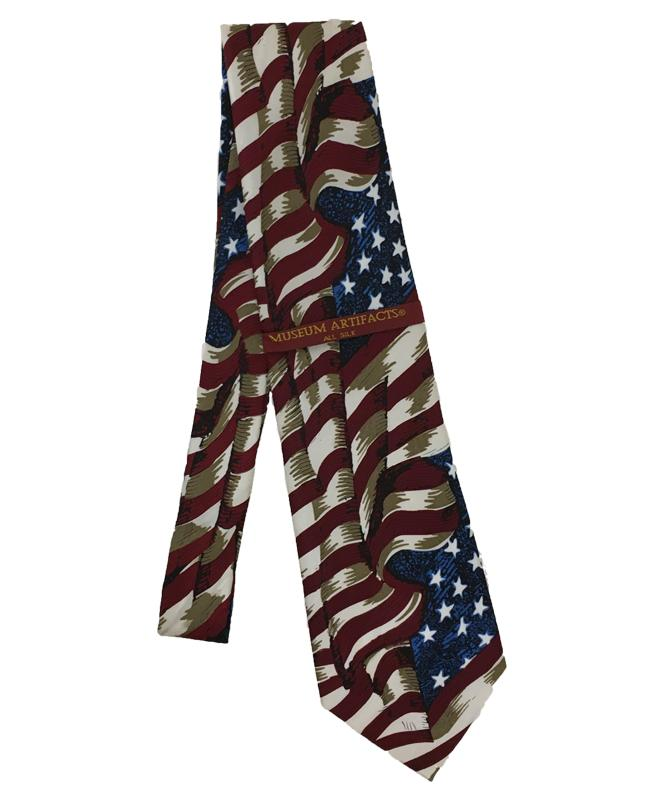 TIE Silk U S Flag Large Waving