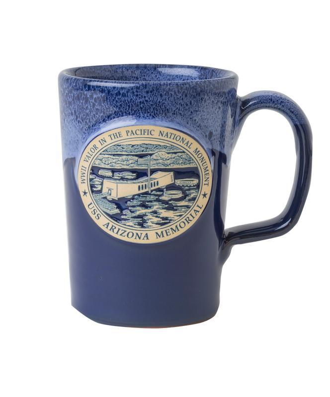 12 oz. Hand Thrown Mug - USS Arizona Memorial