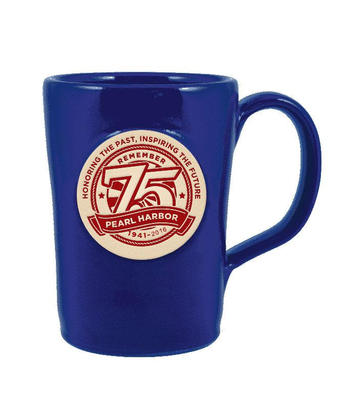 75th Anniversary Blue Mug