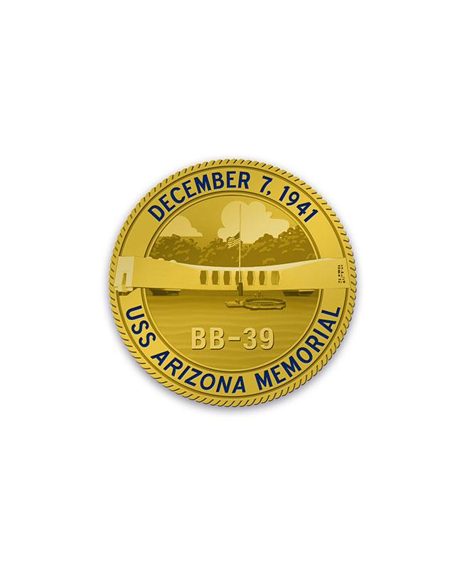 75th Gold Challenge Coin Arizona Memorial
