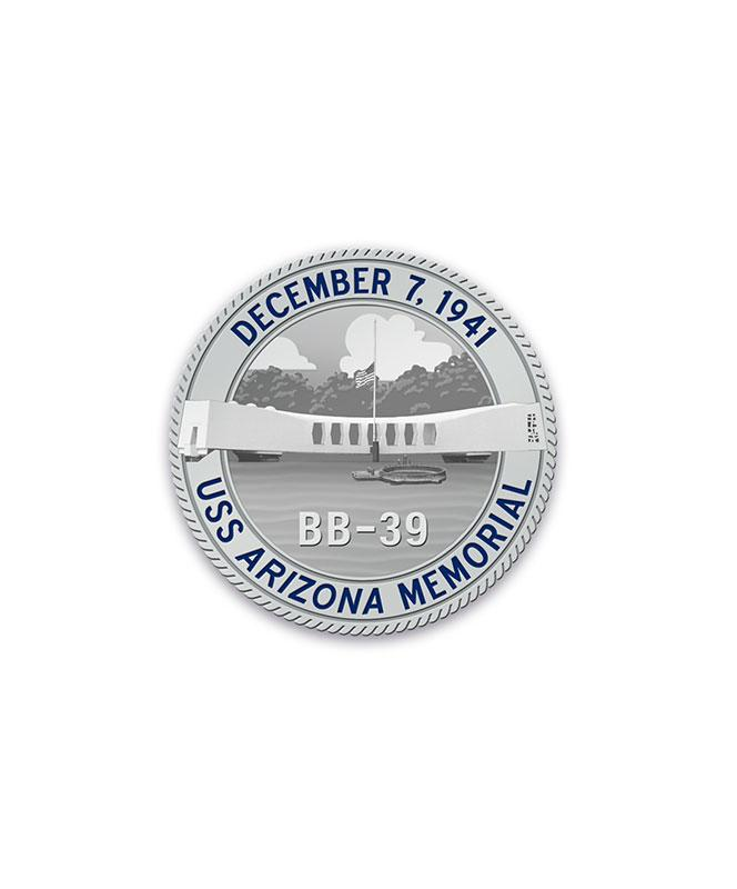 75th Silver Challenge Coin Arizona Memorial