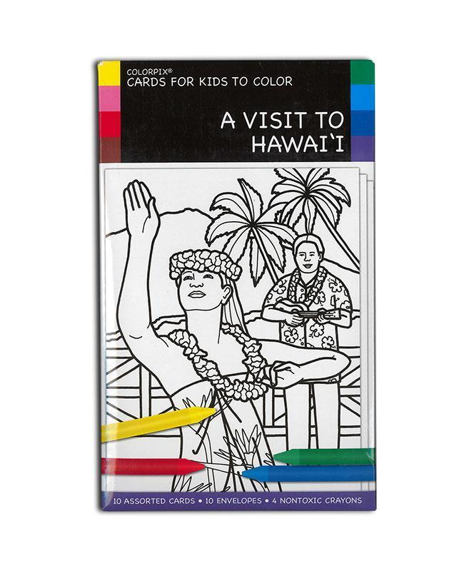 A Visit To Hawai'i: Cards for Kids to Color