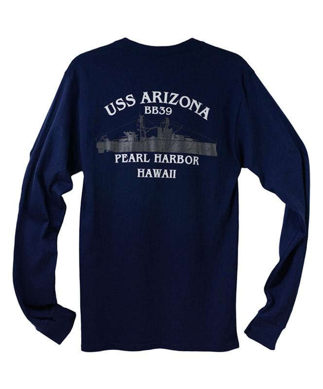 Men's USS Arizona BB39 Long Sleeve T-Shirt, Navy