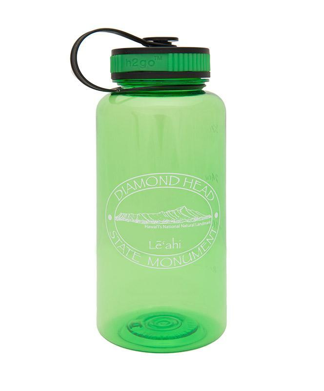 Diamond Head Logo Water Bottle, Green