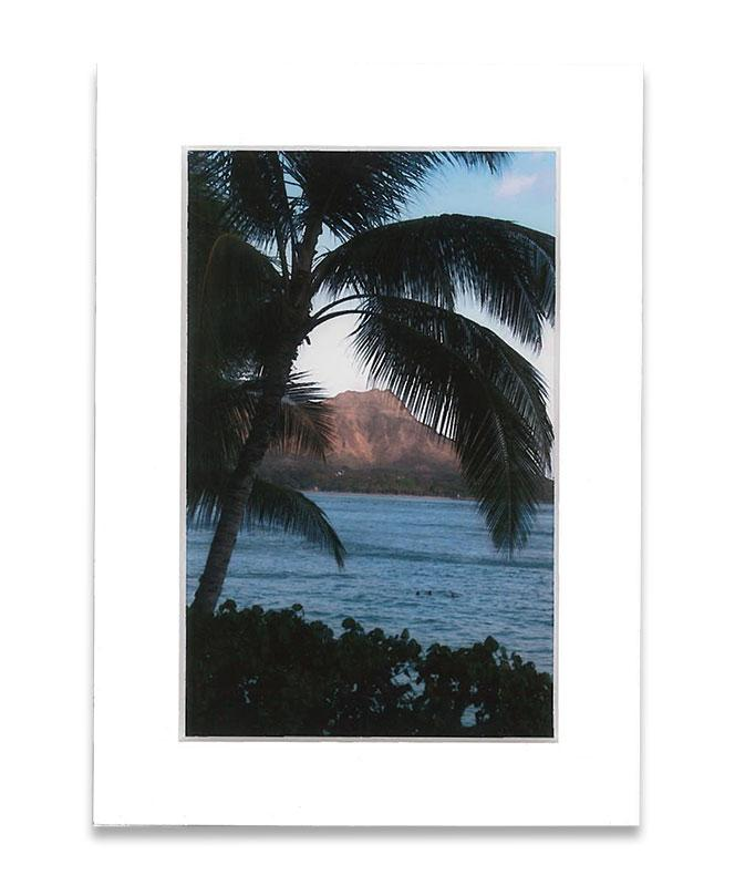 5x7 Diamond Head Matted Photo Print