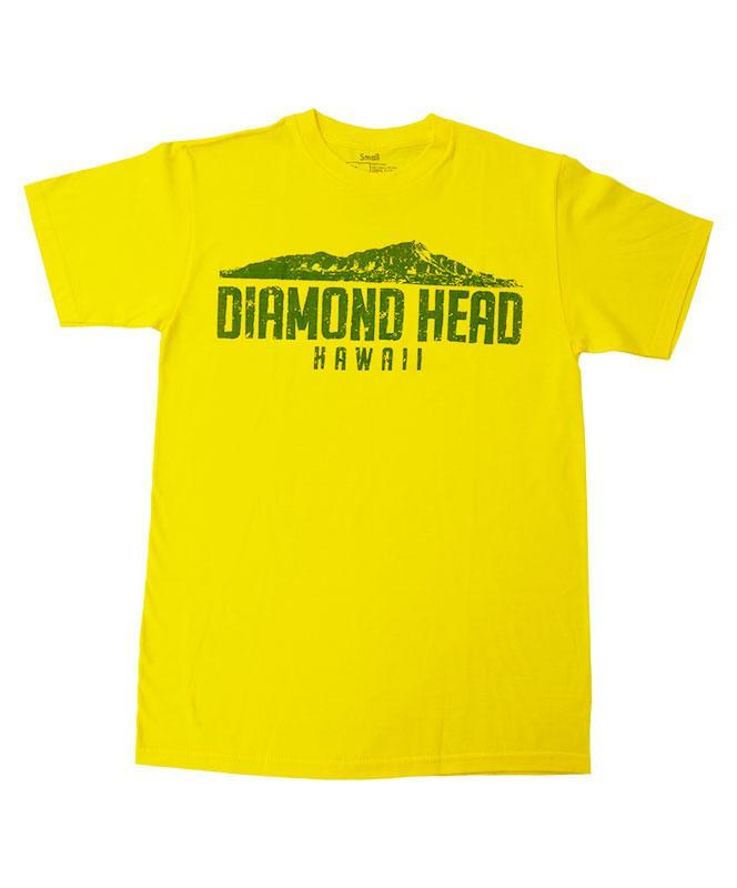 Men's Diamond Head Crater T-shirt, Yellow