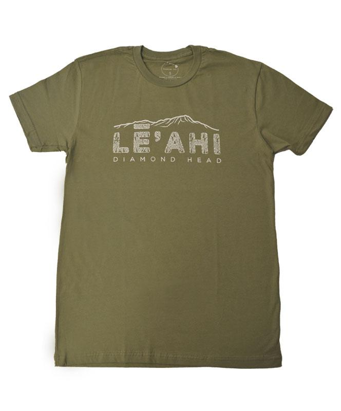 Men's Diamond Head (Leahi) Etched T-shirt, Military Green