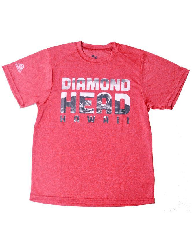 Kid's Diamond Head Hawaii Active T-Shirt, Red