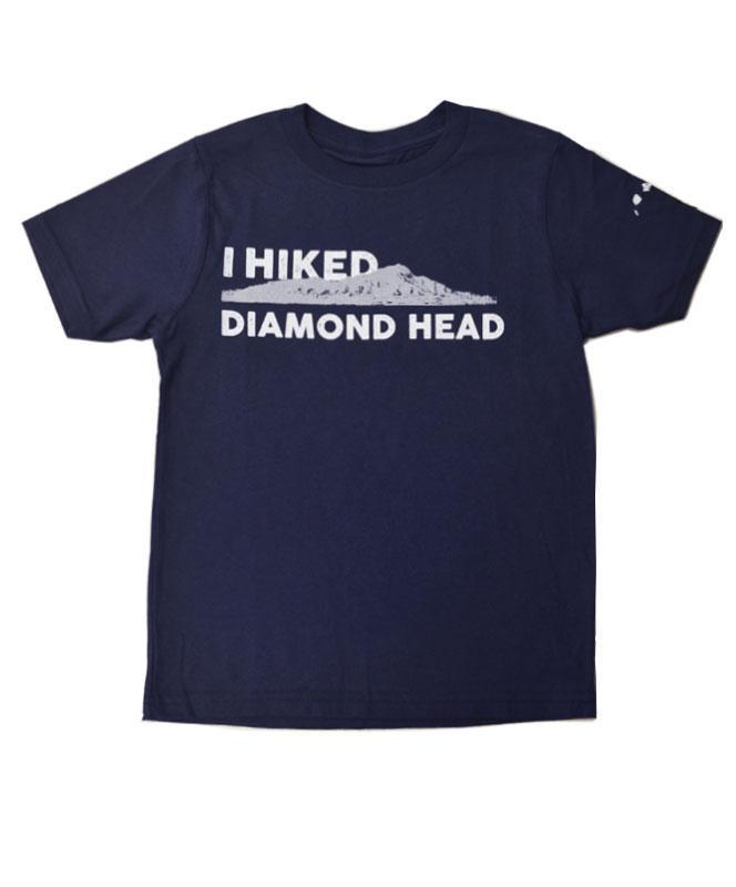 Kid's I Hiked Diamond Head T-shirt, Navy Blue