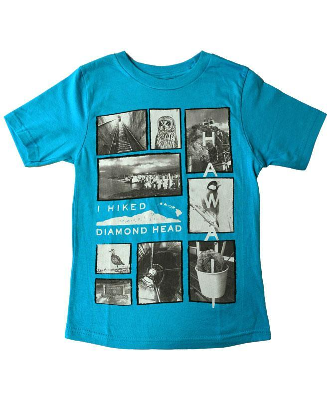 Kid's Diamond Head Polaroids T-shirt, Turquoise