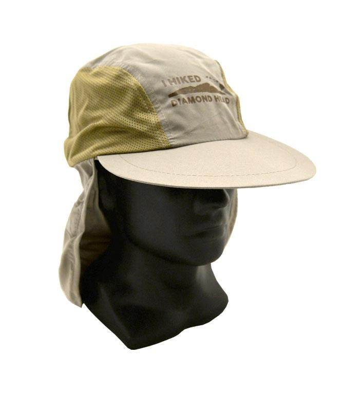 I Hiked Diamond Head Hat with Neck Flap, Khaki