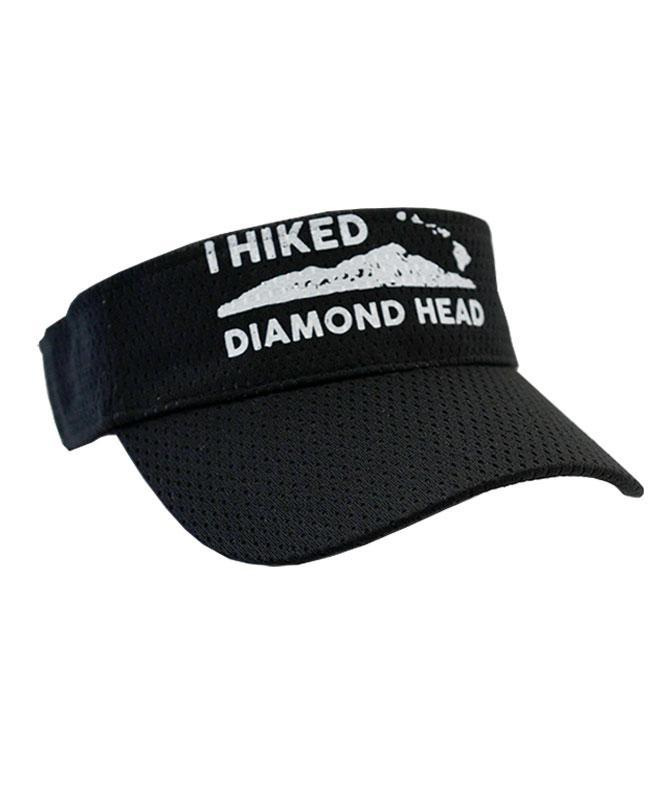 I Hiked Diamond Head Sports Visor, Black