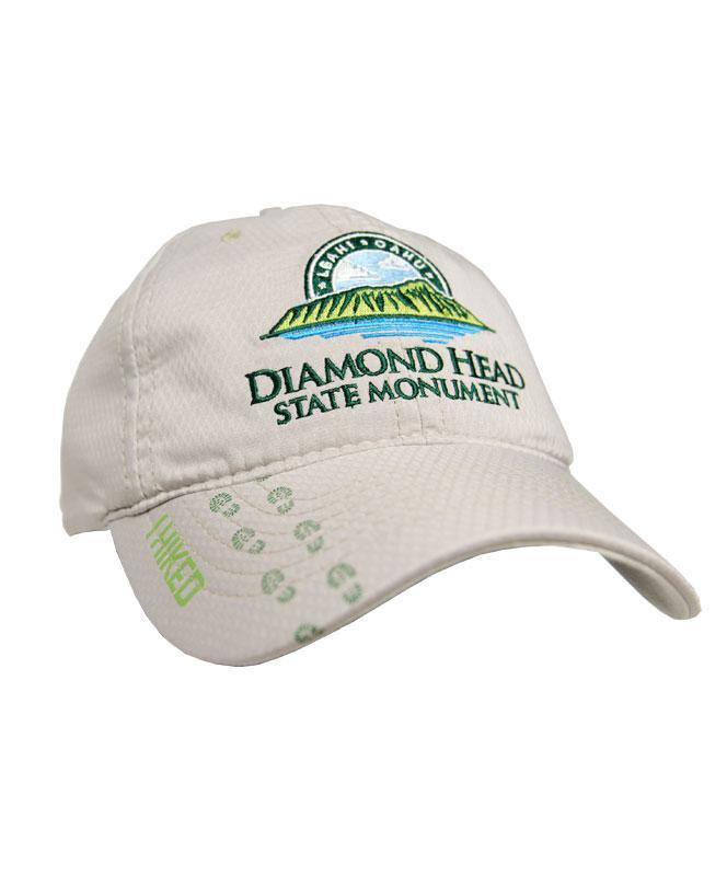 I Hiked Diamond Head State Monument Logo Cap, Cream