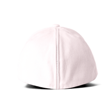 Load image into Gallery viewer, Back view of the pink Ponyback ponytail hat with the back opening in closed position