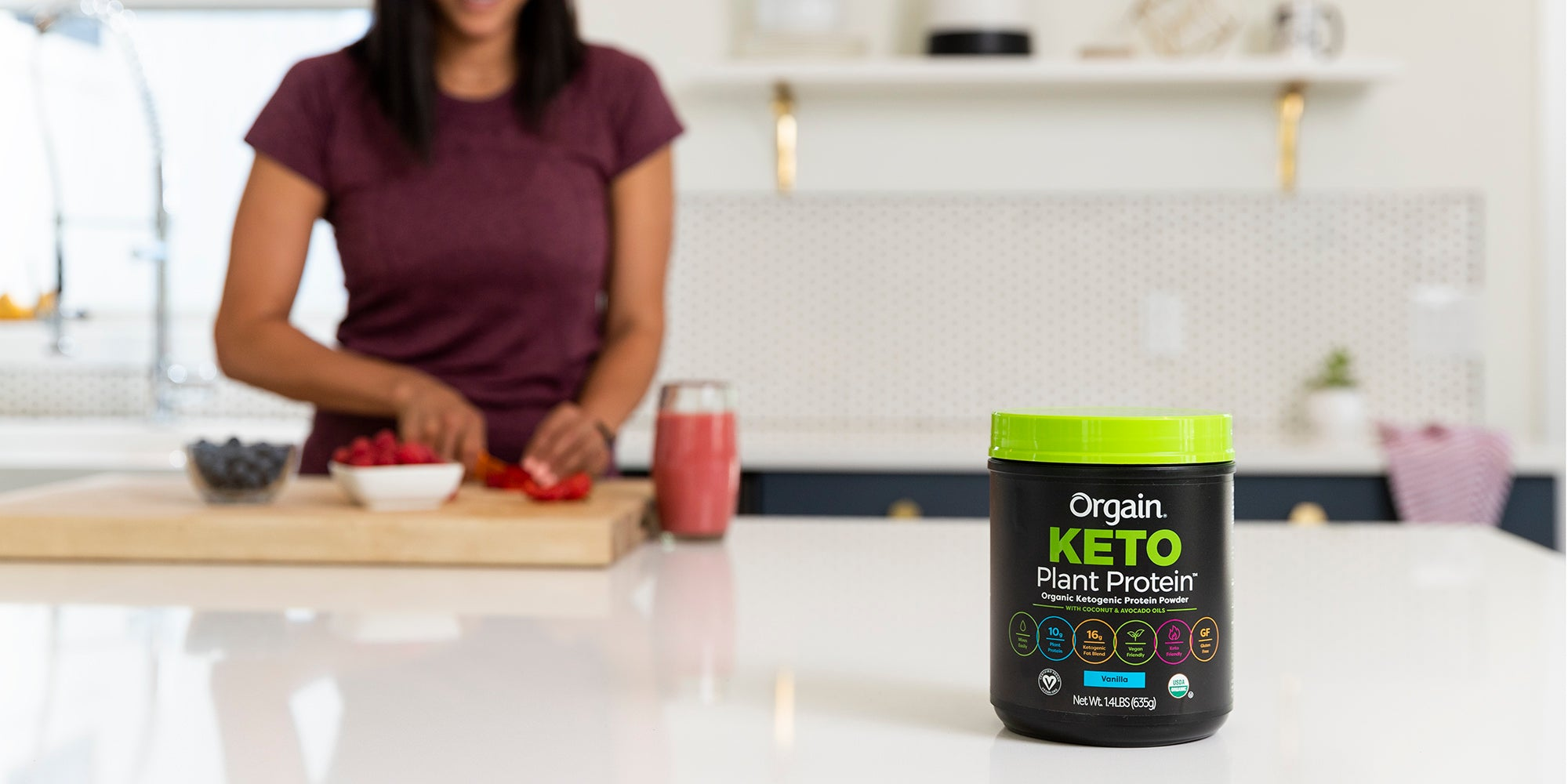 Introducing the NEW Orgain Keto Plant Protein Powder