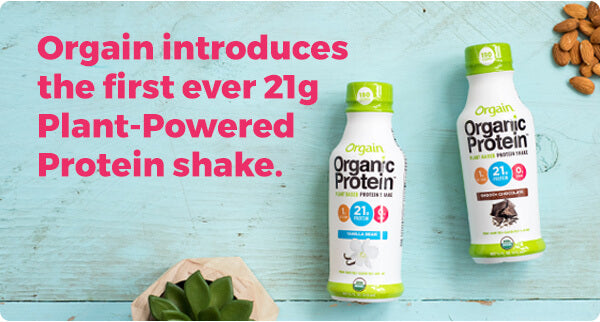 Orgain introduces the first ever 21g Plant-Powered Protein shake.