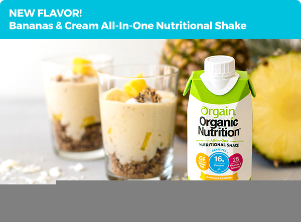 NEW FLAVOR! Bananas & Cream All-In-One Nutritional Shake