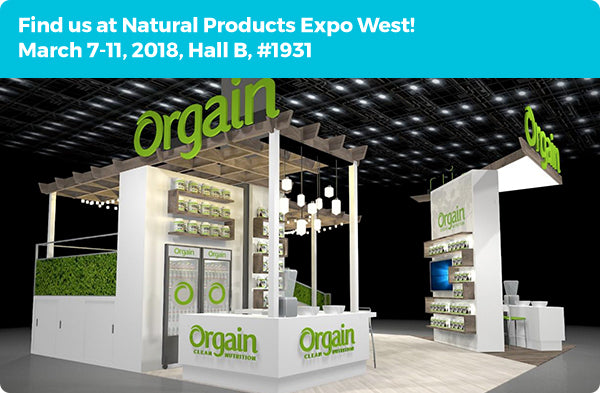 Find us at Natural Products Expo West! March 7-11, 2018, Hall B, #1931