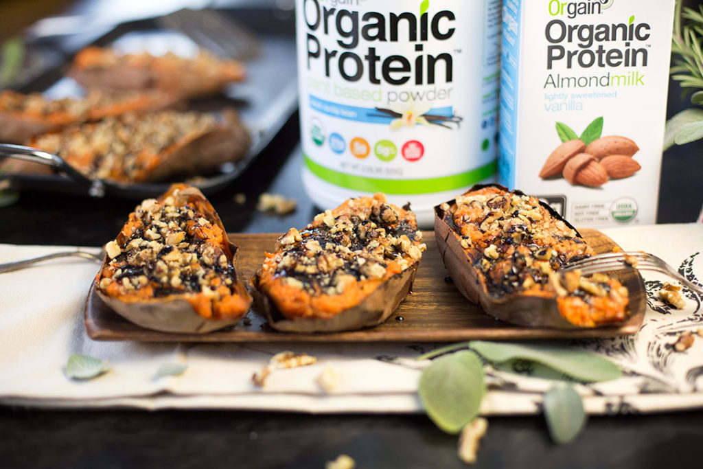 Orgain Twice Baked Sweet Potatoes