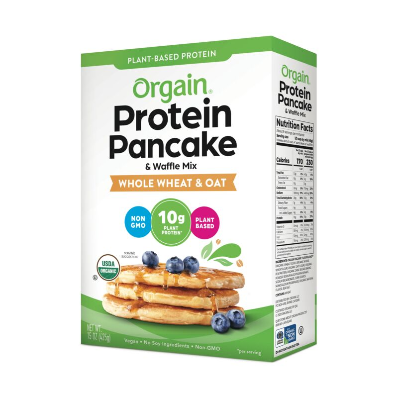Organic Plant-Based Protein Pancake & Waffle Mix - Whole Wheat & Oat