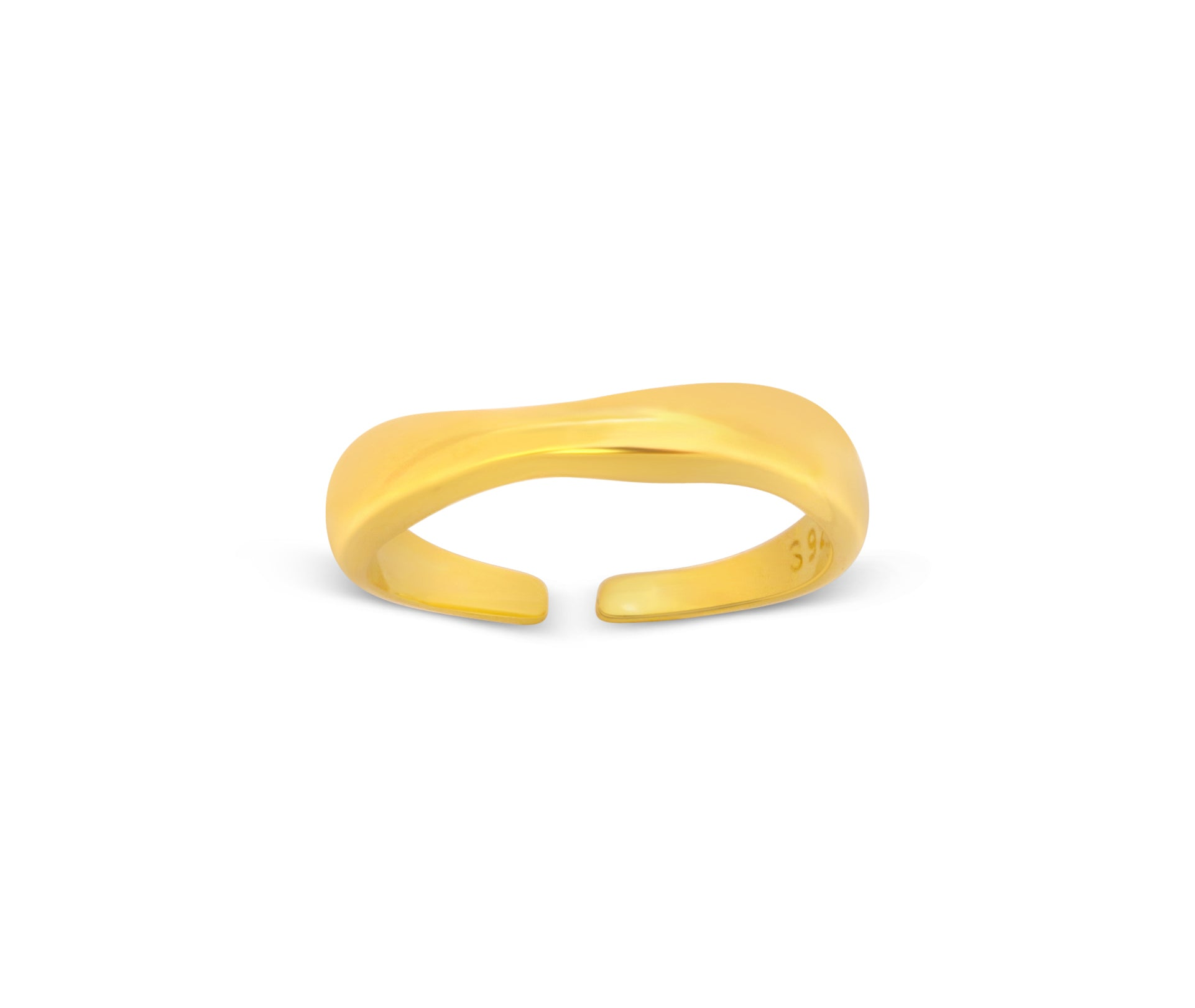 Geometric Wavy Adjustable Ring - Aiverc | Designer Watches