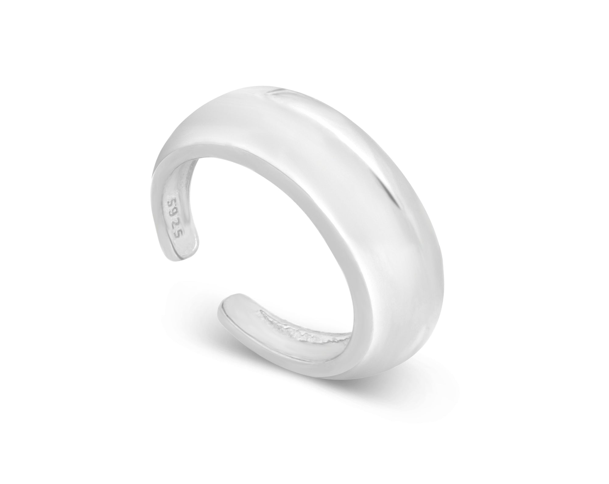 Silver Saturn Geometric Stacking Ring - Aiverc | Designer Watches