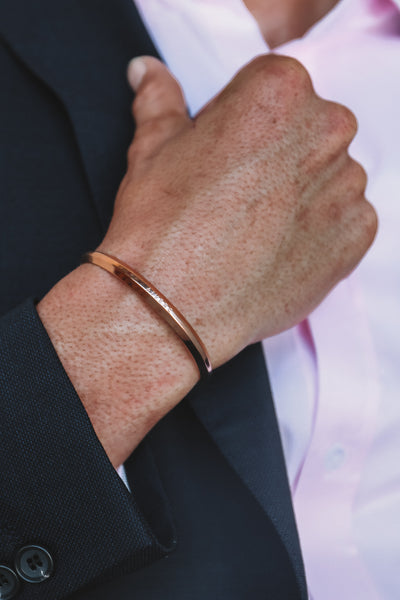 Aiverc Men's Signature Rose Gold Thin Cuff - Aiverc | concept designer watches