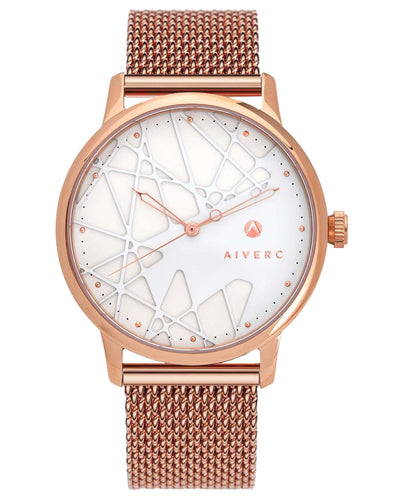 Womens Opera Rose Gold Mesh  - 40mm - Aiverc | concept designer watches