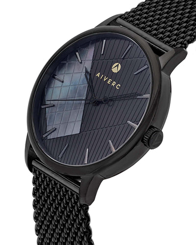 Womens Ontario Black Mesh - 40mm - Aiverc | Designer Watches