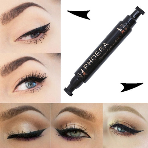 1 Pcs Double-Headed Cat Eye Stamp Eyeliner