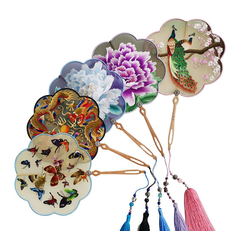 Chinese Ancient Hand Fan Classic Palace Paddle Hand Fan