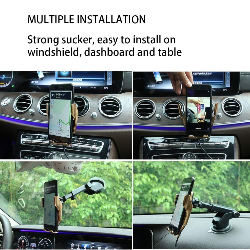 Wireless Charger Car Mount, Automatic Clamping, 10W / 7 5W Fast Charging -  gold / NORMAL VERSION