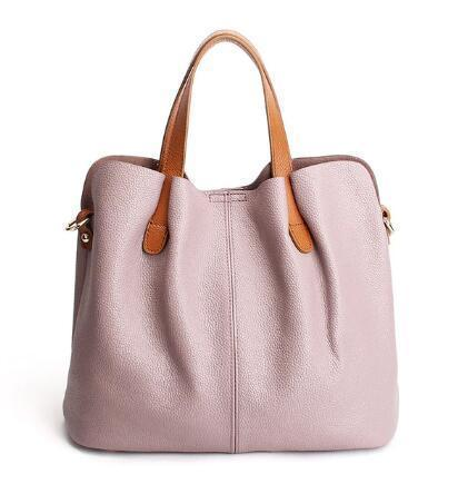 2019 Latest Soft Leather Tote Bag