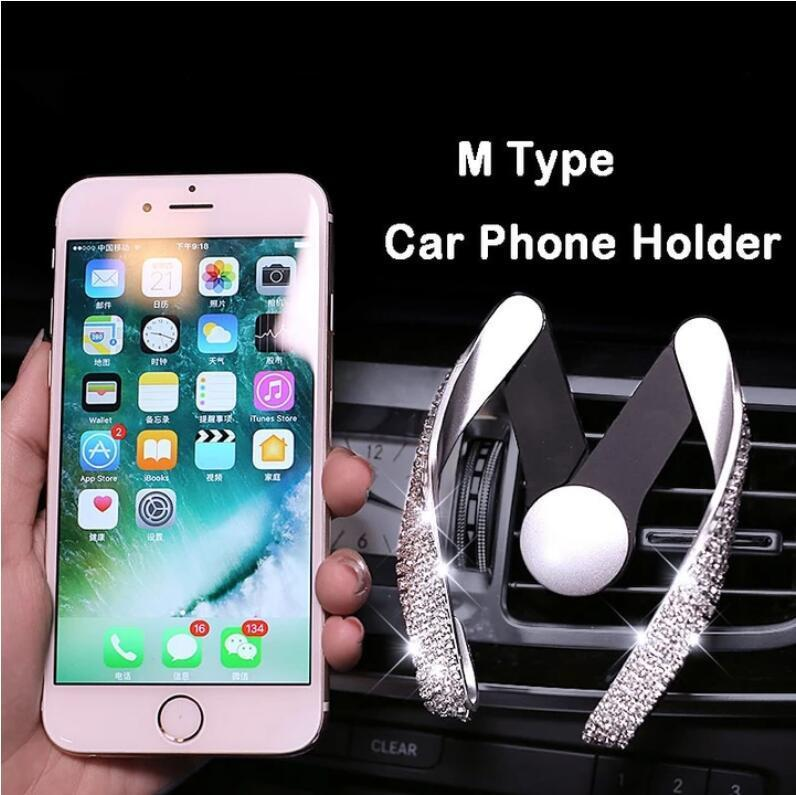 CRYSTAL CAR PHONE HOLDER AIR VENT MOUNT(Buy 2 Free Shipping)