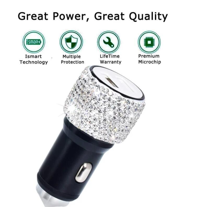 CRYSTAL DUAL USB CAR CHARGER(Buy 2 Free Shipping)