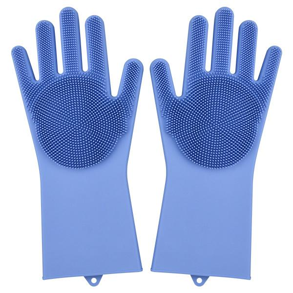 Magic Silicone Dish Washing Gloves Kitchen Accessories Dishwashing Glove Household Tools for Cleaning Car Pet Brush