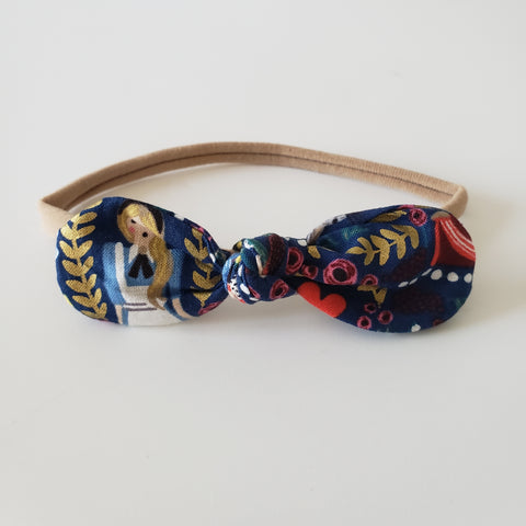 CHILDREN'S BOW HEADBAND - ALICE IN WONDERLAND