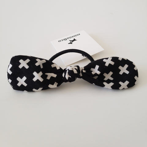 PET MOM'S BOW HAIR TIE - CRISS CROSS
