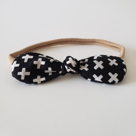CHILDREN'S BOW HEADBAND - CRISS CROSS