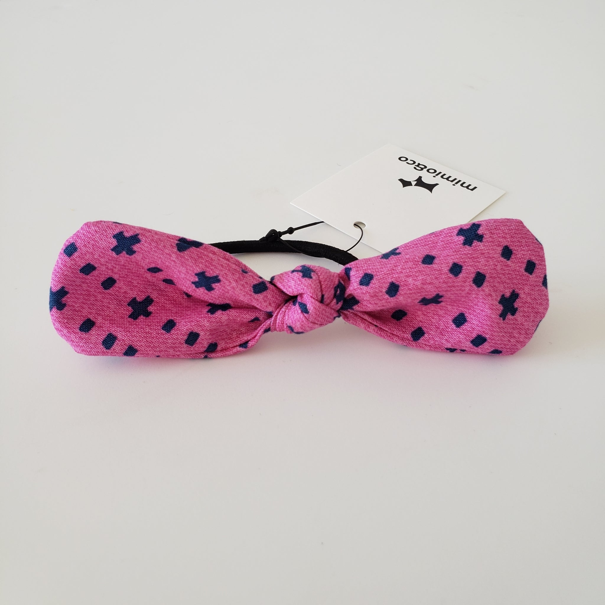 PET MOM'S BOW HAIR TIE - PINK XO