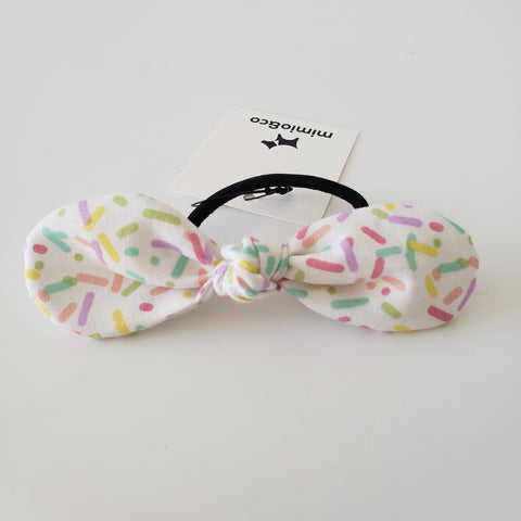 PET MOM'S BOW HAIR TIE - SWEET SPRINKLE