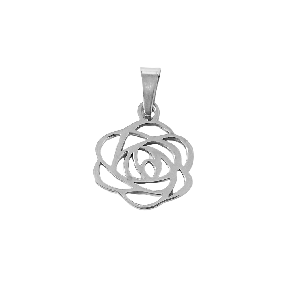 Rose The Night Away Charm Silver