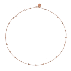 Dots Necklace Rosegold