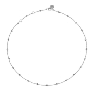 Dots Necklace Silver