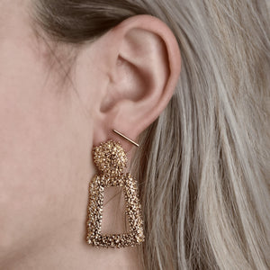 Bold And Beautiful Earrings Gold